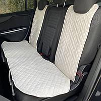 Накидка чехол на сидения автомобиля из Алькантары Эко-замша задний универсальный защитный авточехол Айвори