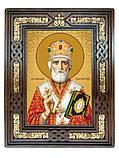 Икона Святой Николай Чудотворец в резном киоте с росписью 34*28cm, фото 3