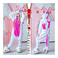 Оригинальная пижама кигуруми Единорог с крылышками Розовый Пегас размер 120