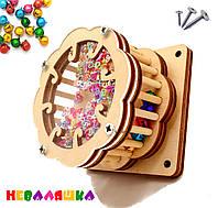 Заготовка для Бизиборда Крутилка Барабанчик 3в1 с Бубенчиками ЗВУК Барабан з дзвіночками для бізіборда