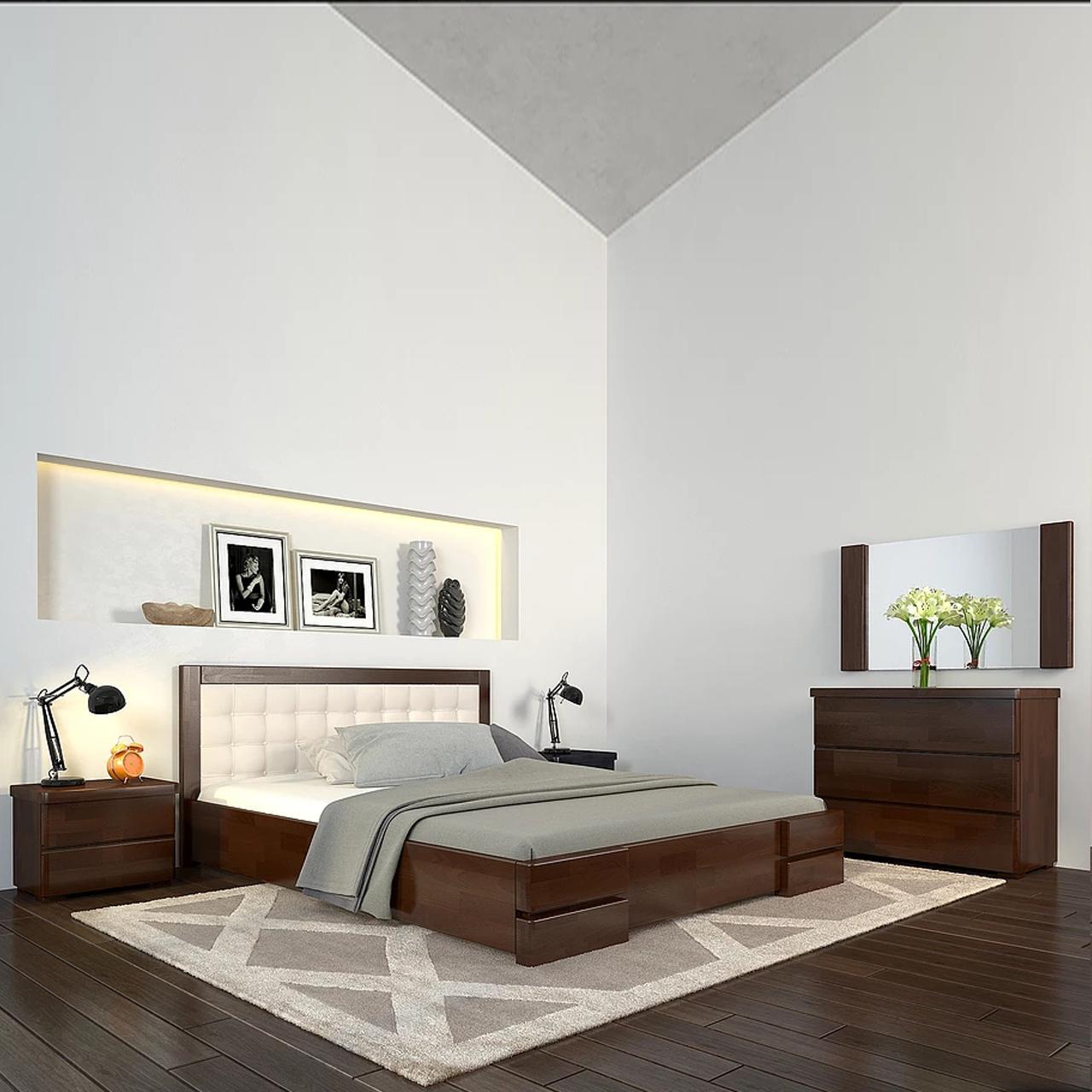 Ліжко дерев'яне двоспальне Регіна Люкс