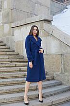 Женское демисезонное пальто ПВ-172 Синий ТМ Mila Nova