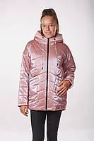 Детская подростковая демисезонная куртка для девочек Sofi (158см) Пудра Tiaren на весну-осень