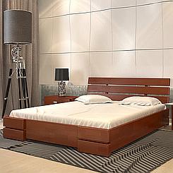 Ліжко дерев'яне двоспальне Далі Люкс з підйомним механізмом