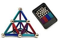 Магнитный конструктор Neo 36 палочек и 26 шариков Разноцветный (4_00418)