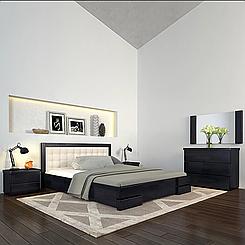 Ліжко дерев'яне двоспальне Регіна Люкс з підйомним механізмом
