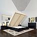 Ліжко дерев'яне двоспальне Регіна Люкс з підйомним механізмом, фото 2