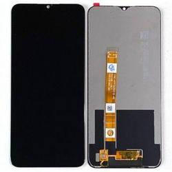 Дисплей Oppo A5 (2020), A9 (2020), A11x, Realme 5, 5i, 6i, C3 черный с тачскрином