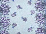 Скатертина рогожка 145х200 Букет лаванди, фото 2