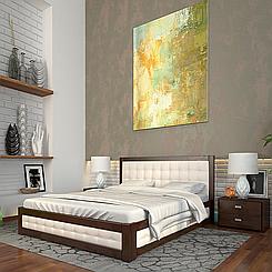 Ліжко дерев'яне двоспальне Рената М з підйомним механізмом