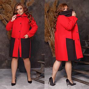 Женское пальто,Ткань: кашемир,на пуговицах, с карманами длинное(48-62), фото 2