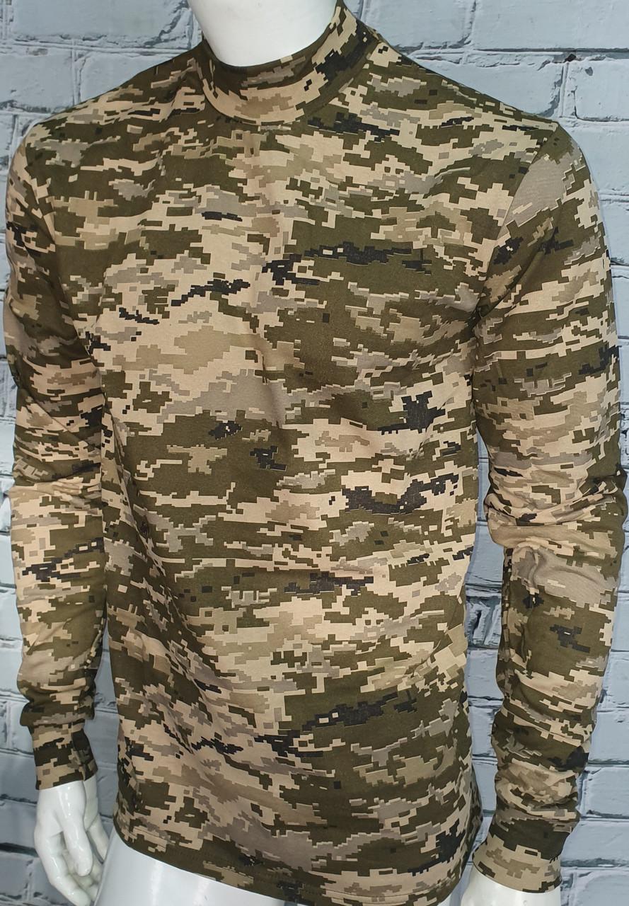Реглан военный трикотажный с начесом в расцветке пиксель 100% коттон