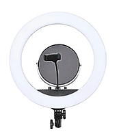 Кольцевая светодиодная LED лампа RIAS MM-988 35см с зеркалом и держателем (2_009695)
