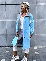 Женское пальто, ткань основы кашимир, подкладка атлас,застежки пуговицы, накладные кармашки.(42-46), фото 1