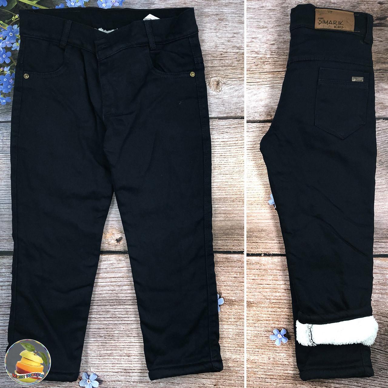 Тёмно синие джинсы на травке для мальчика Размеры: 5,6,7,8 лет (20943-1)