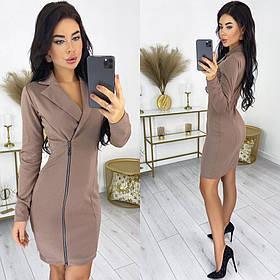 Трикотажна сукня на блискавці 50-592