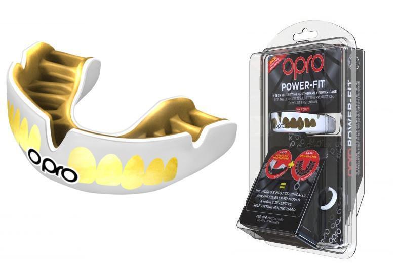 Капа OPRO Power-Fit Bling-Teeth Series White/Gold (art.002269001)