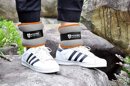 Отягощения для ног фиксированные Power System 1.5 kg пара, фото 2