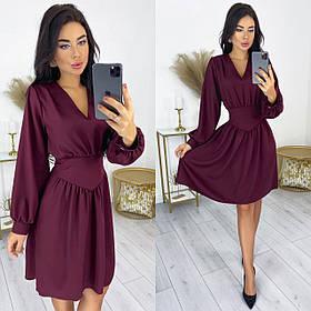 Приталені плаття з костюмної тканини 50-593