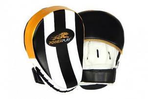 Лапи боксерські PowerPlay 3041 Золоті PU [пара], фото 2