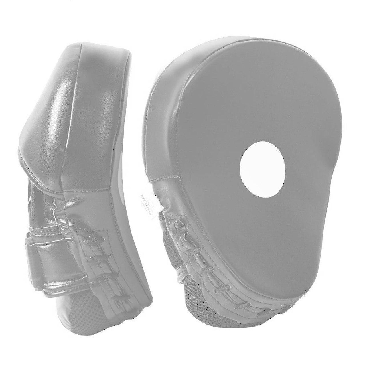 Лапы боксерские PowerPlay 3041 черно-серые PU [пара]