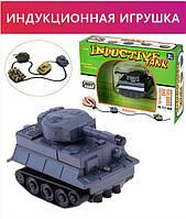 Индуктивный игрушечный автомобиль Inductive truck, индуктивная развивающая машинка танк