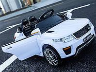 Детский электромобиль-джип Land Rover (белый цвет) с пультом радиоуправления Bluetooth 2.4G