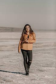 Теплая женская рубашка больших размеров, Женская Тёплая Рубашка в Больших Размерах