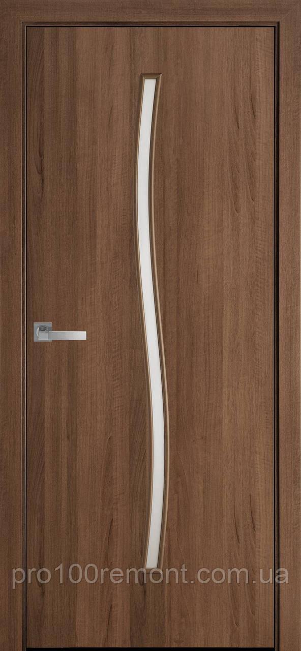 Полотно Гармонія зі склом сатин від Новий стиль (зол.вільха, каштан, ясен,горіх premium,дуб жемчуж)