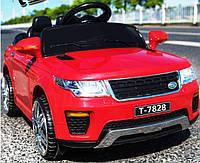 Детский электромобиль-джип Land Rover (красный цвет) с пультом радиоуправления Bluetooth 2.4G
