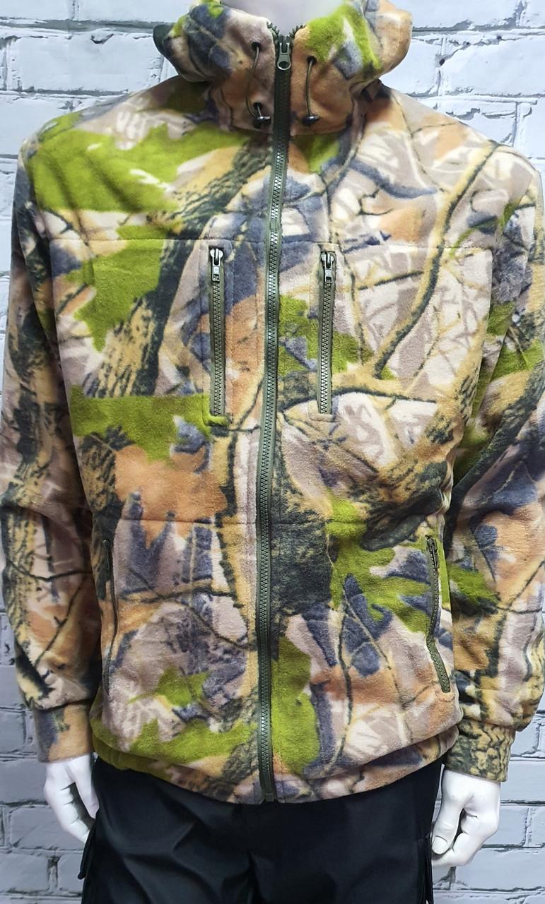 Кофта флісова куртка з капюшоном HUNT OAK дубок