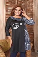 Женское платье-туника большего размера, фото 1