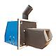Пеллетный котел с бункером Эталон Pellets Lite 44 кВт самоочищающиеся колосники из жаропрочной стали, фото 2