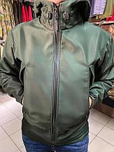 Куртка водозащитная с капюшоном материал ДЮСПО в цвете олива грин