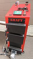 Универсальный твердотопливный котел Kraft E new 12 кВт сталь 5 мм!! длительного горения / Крафт Е нью