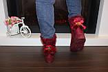 Угги женские бордовые С914, фото 6