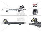 Рулевая рейка с ГУР для INFINITI EX 2007-2013 49001-1BA1A, 49001-1BA3A, IN205R