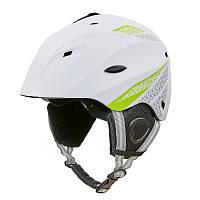 Шлем горнолыжный с механизмом регулировки MS-6287 белый L (58-61)
