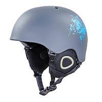 Шлем горнолыжный с механизмом регулировки MS-6289 серый M (55-58)