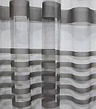 """Тюль фатин с принтом, коллекция """"Катрин"""". Цвет серый.  Код 208т (2,4*2,25) 40-155, фото 4"""