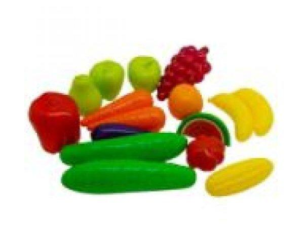Набор фрукты-овощи (16 предм.) 379 (16)