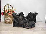 Ботинки на меху на мальчика 34,35, 36 р черные арт 3133, фото 3