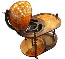 Глобус бар підлоговий зі столиком Земну кулю 42004 R, фото 3