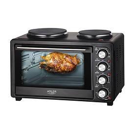 Электрическая печь с двумя нагревательными плитами Adler AD 6020 36л 2500W Black (111614)