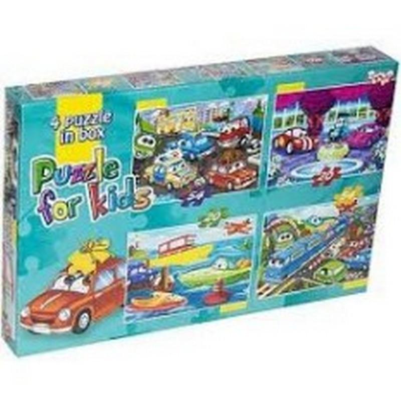 Пазли 54 + 20 ел. 4 в 1 Danko Toys