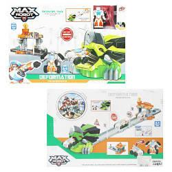 Детский игрушечный автотрек с машинкой трансформером