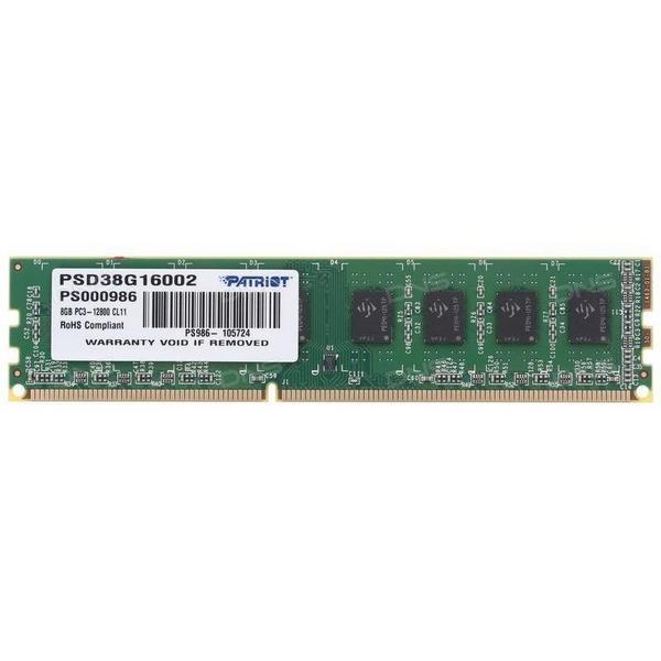 Модуль памяти DDR3 8GB 1600 Patriot Signature Line C11 (PSD38G16002)