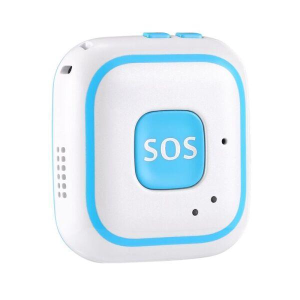 Персональный портативный GPS трекер для детей Badoo Security Original V28 Голубой