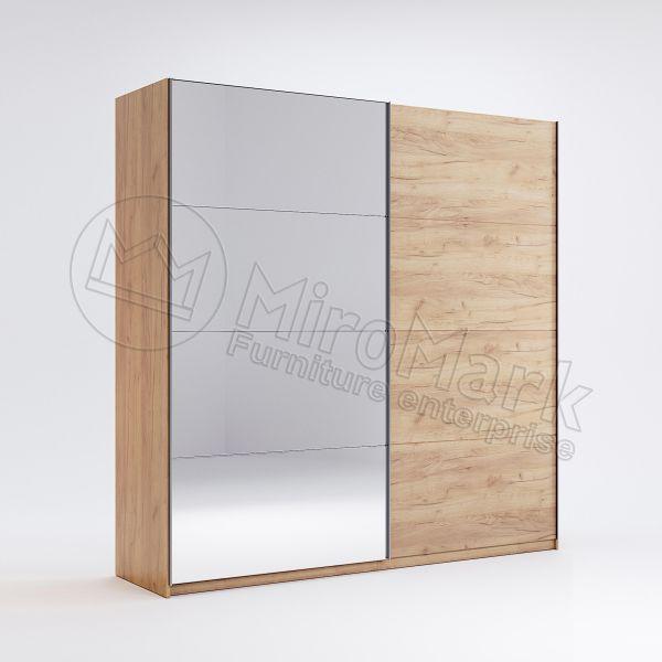 Шкаф-купе Асти 2,0 м Миро-Марк (двери Дуб крафт/зеркало)