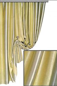 Ткань Блэкаут Полоса Шампань + Серебро